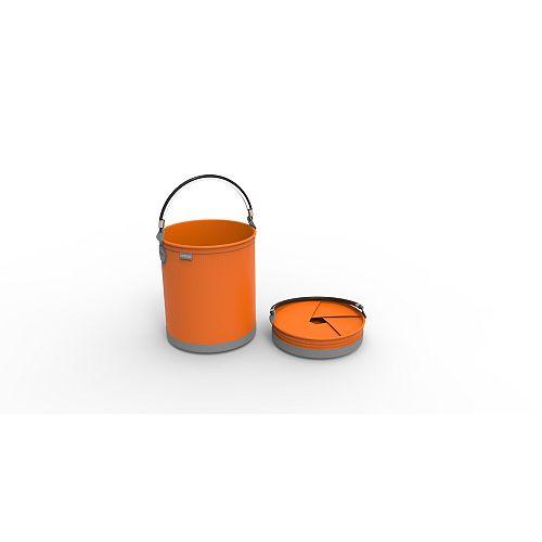 Colpaz Collapsible Bucket in Juicy Orange