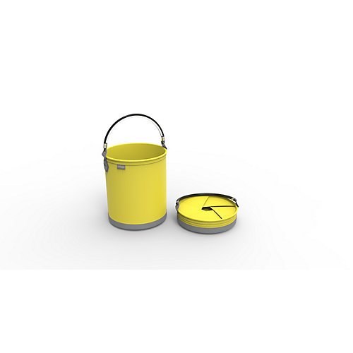 Colpaz Collapsible Bucket in Sunshine Yellow