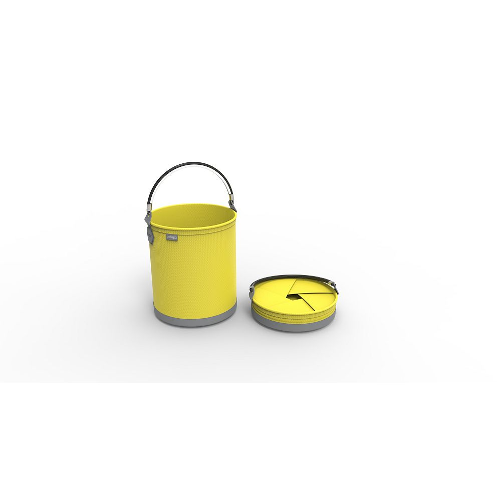 Colourwave Colpaz Collapsible Bucket in Sunshine Yellow