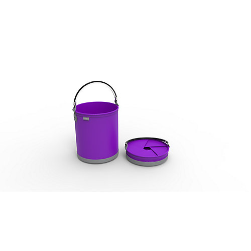 Colpaz Collapsible Bucket in Funky Purple