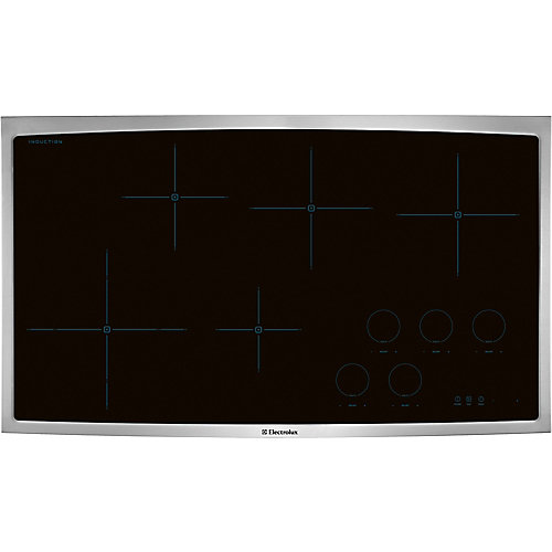 36-inch Smooth Surface Induction Cooktop with 5 Elements in Stainless Steel