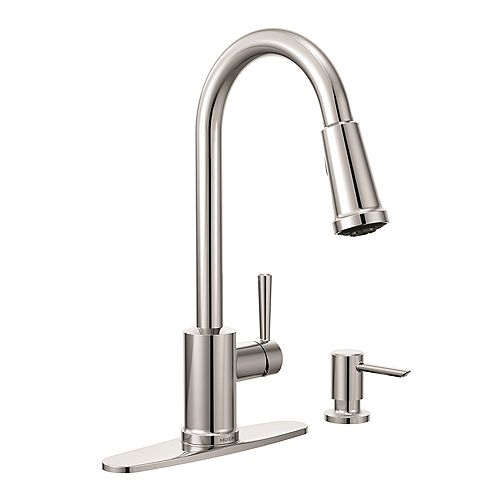 Indi Single-Handle Pull-down Sprayer Kitchen Faucet with Power Clean(TM) in Chrome