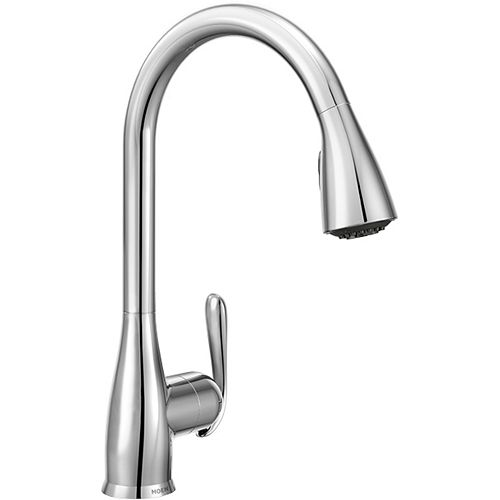 Haysfield Single-Handle Pull-down Sprayer Kitchen Faucet with Power Clean(TM) in Chrome