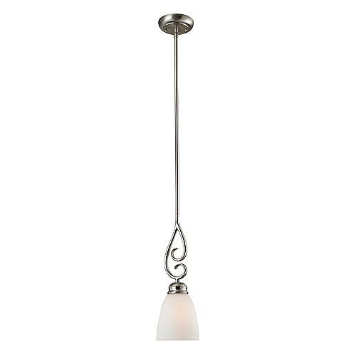 Titan Lighting 1 Light Mini Pendant In Brushed Nickel