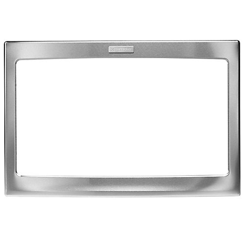 27-inch W Trim Kit for Built-In Microwave Oven in Stainless Steel