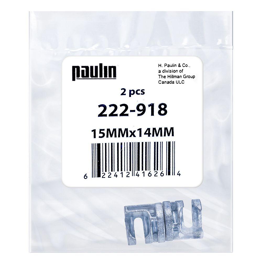 Paulin Connecteur à came Phillips Drive 15 mm x 14 mm plaqué zinc - 2 pcs