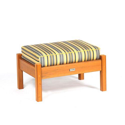 Bamboo Deep Seating Ottoman Cushion in Green