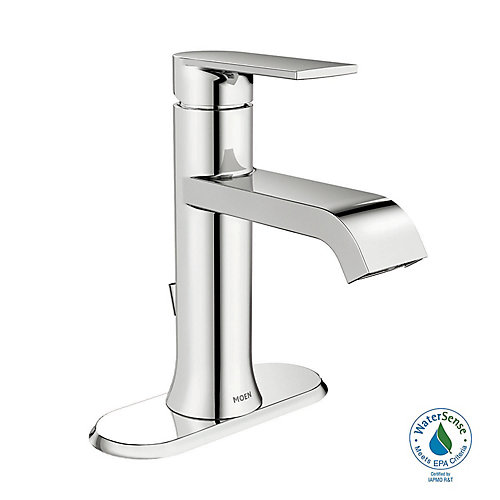 Genta Single Hole Single-Handle Low Arc Bathroom Faucet with Lever Handle in Chrome