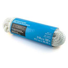 7/16 Po X 100 Pi Nylon Tressé Solide Blanc