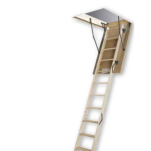 Échelle de grenier (en bois, de base, de bricolage) LWS-M 27 1/2 x 47 – 300 lb – 9 pi 2 po
