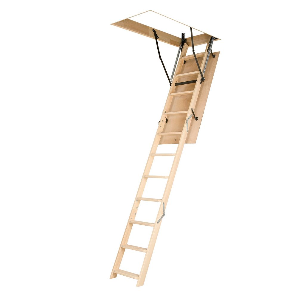 Fakro Attic Ladder (Wooden Basic) LWN 22 1/2x54 250 lbs 10 ft 1 in