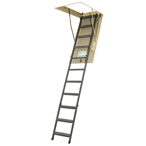 Fakro Attic Ladder (Metal Basic) OWM 30x54 300 lbs 10 ft 1 in