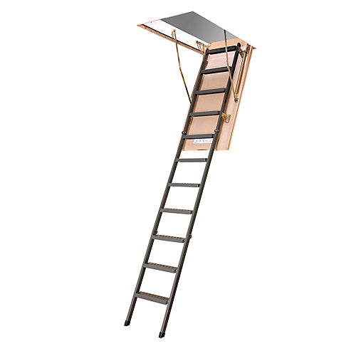 8 ft. 11-inch, 25-inch x 47-inch Insulated Steel Attic Ladder with 350 lb. Capacity Type IA Rating