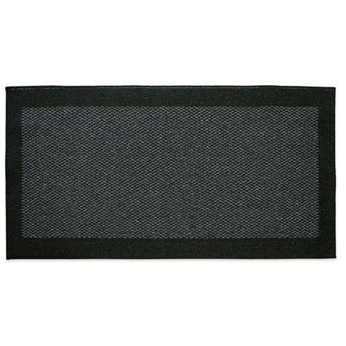 Petit tapis d'appoint rectangulaire d'intérieur Element, 2pi x 4pi, noir