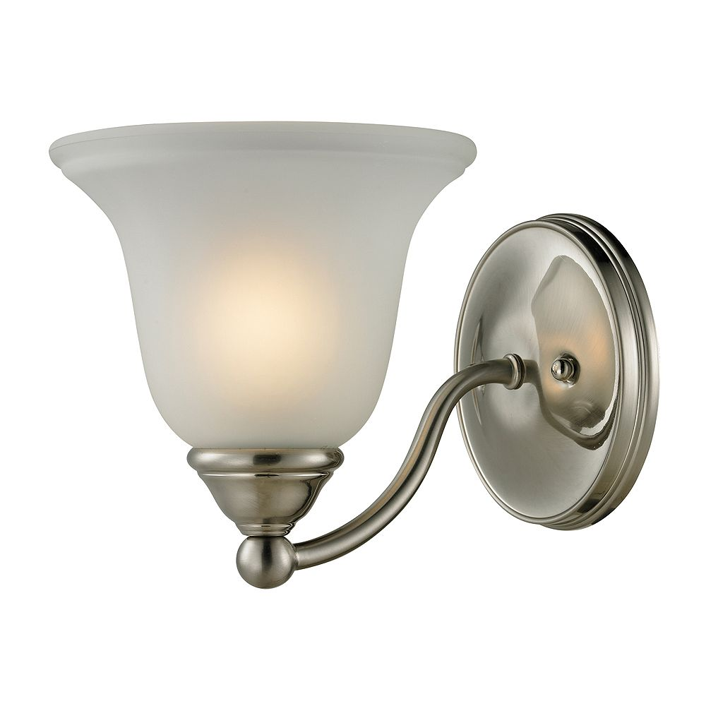 Titan Lighting 1 Light Bath Bar In Brushed Nickel