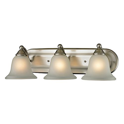 3 Light Bath Bar In Brushed Nickel