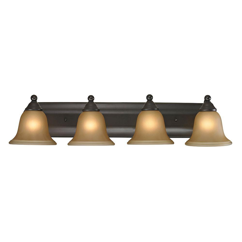 Titan Lighting Applique de salle de bain à 4 ampoules au fini bronze huilé