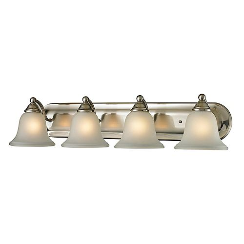 4 Light Bath Bar In Brushed Nickel With Led Option