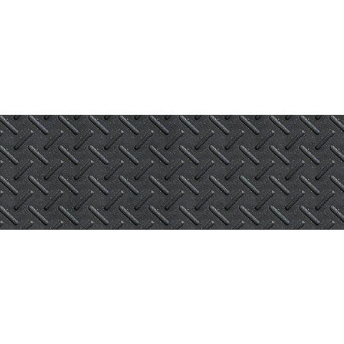 12-inch x 36-inch Heavy Duty Rubber Stair Tread in Black
