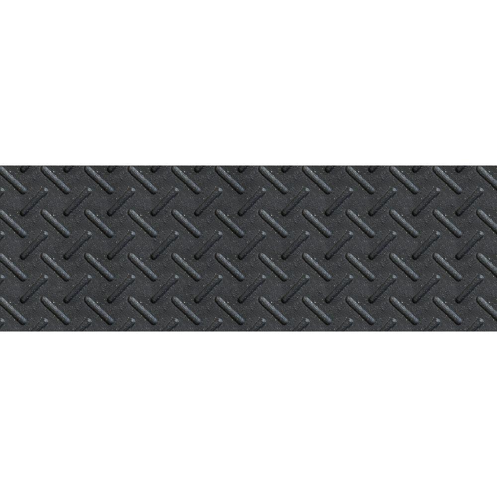Multy Home 10-inch x 36-inch Heavy Duty Rubber Stair Tread in Black