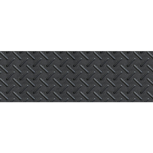 8-inch x 24-inch Heavy Duty Rubber Stair Tread in Black