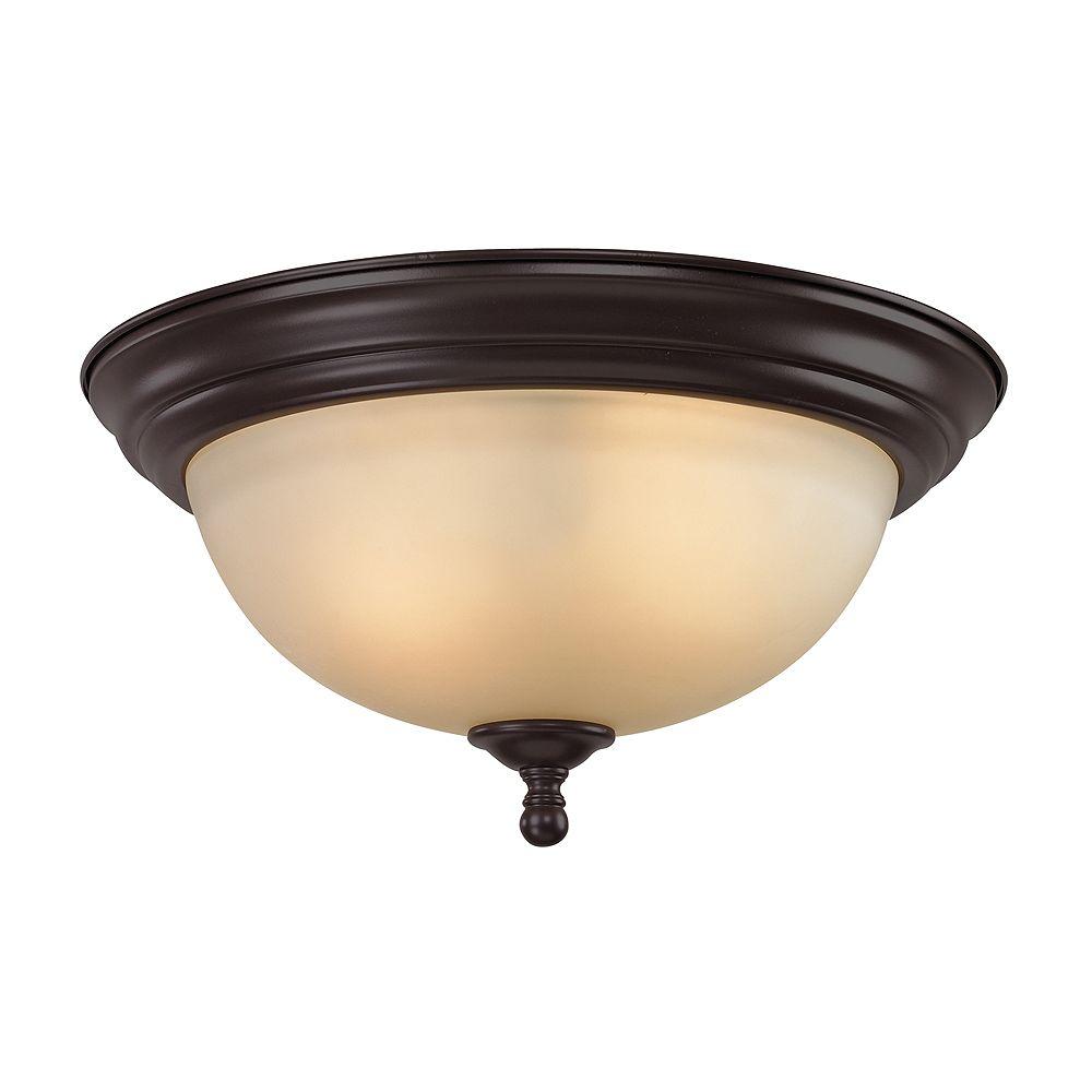 Titan Lighting 3 Light Flush Mount In Oil Rubbed Bronze