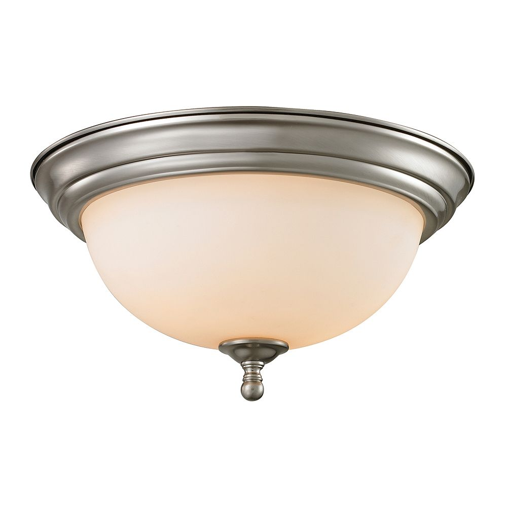 Titan Lighting 3 Light Flush Mount In Brushed Nickel