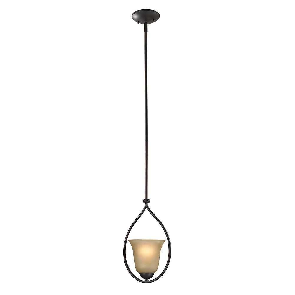 Titan Lighting Conway 1 Light Oiled Rubbed Bronze Pendant The Home Depot Canada