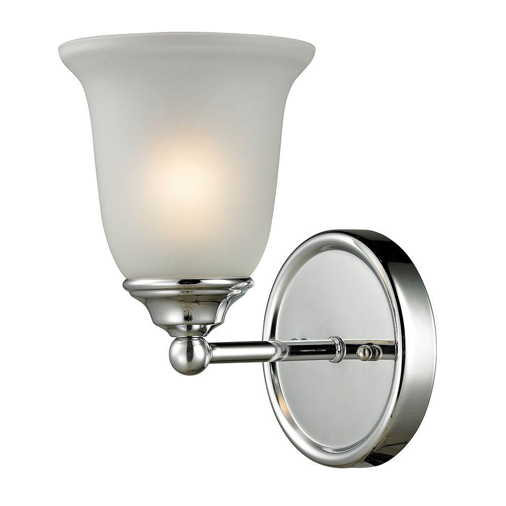 Titan Lighting Applique de salle de bain à 1ampoule au fini chromé