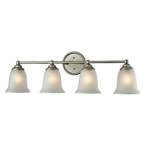 Sudbury 4-Light Brushed Nickel Bath Light