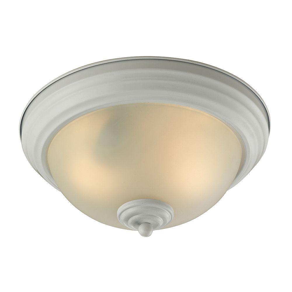 Titan Lighting Plafonnier blanc à 2 ampoules ou DEL