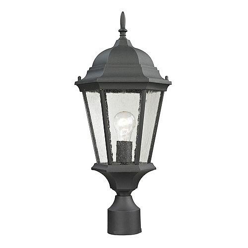 Outdoor Post Lamp In Matte Textured Black