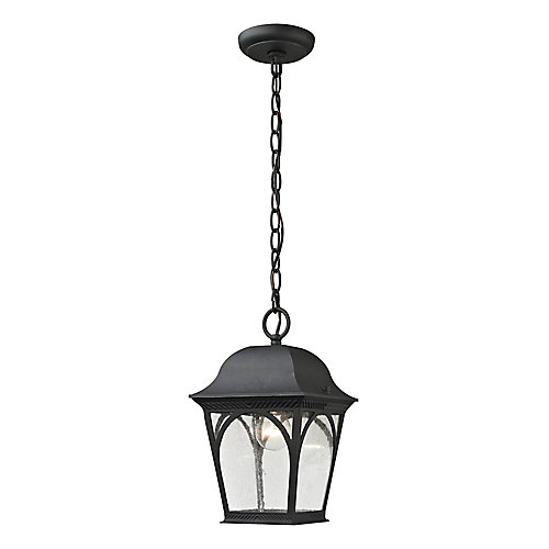 Outdoor Pendant In Matte Textured Black