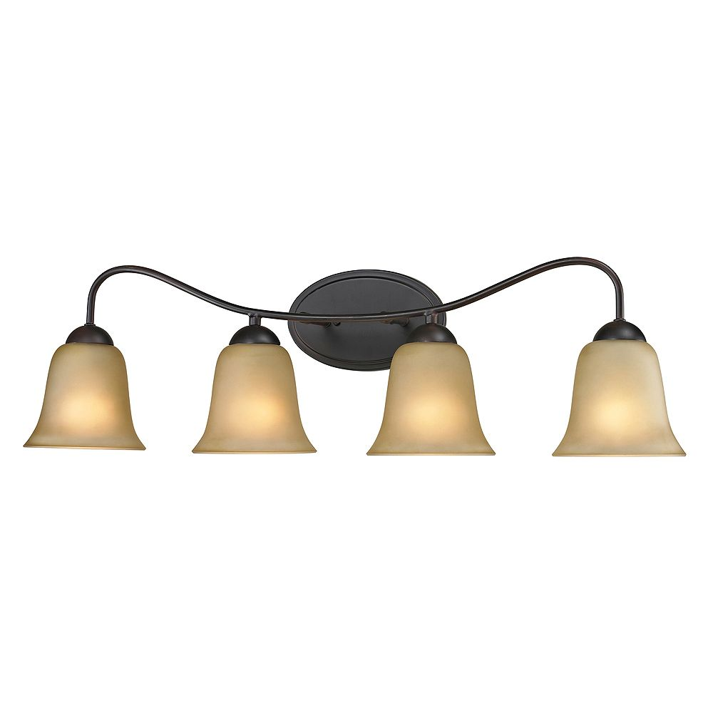 Titan Lighting 4 Light Bath Bar In Oil Rubbed Bronze With Led Option