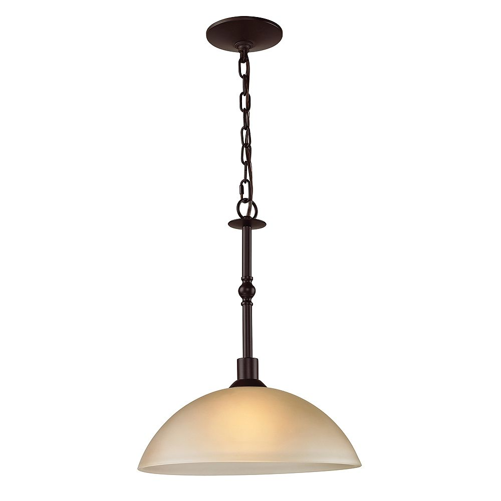 Titan Lighting Luminaire suspendu à 1 ampoule au fini bronze huilé