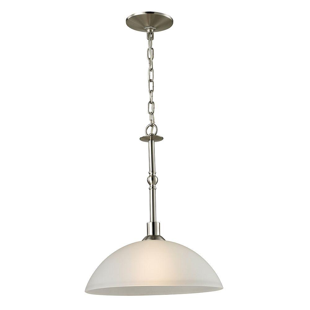 Titan Lighting 1 Light Pendant In Brushed Nickel With Led Option