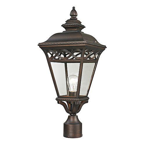 Lampadaire extérieur au fini bronze noisette
