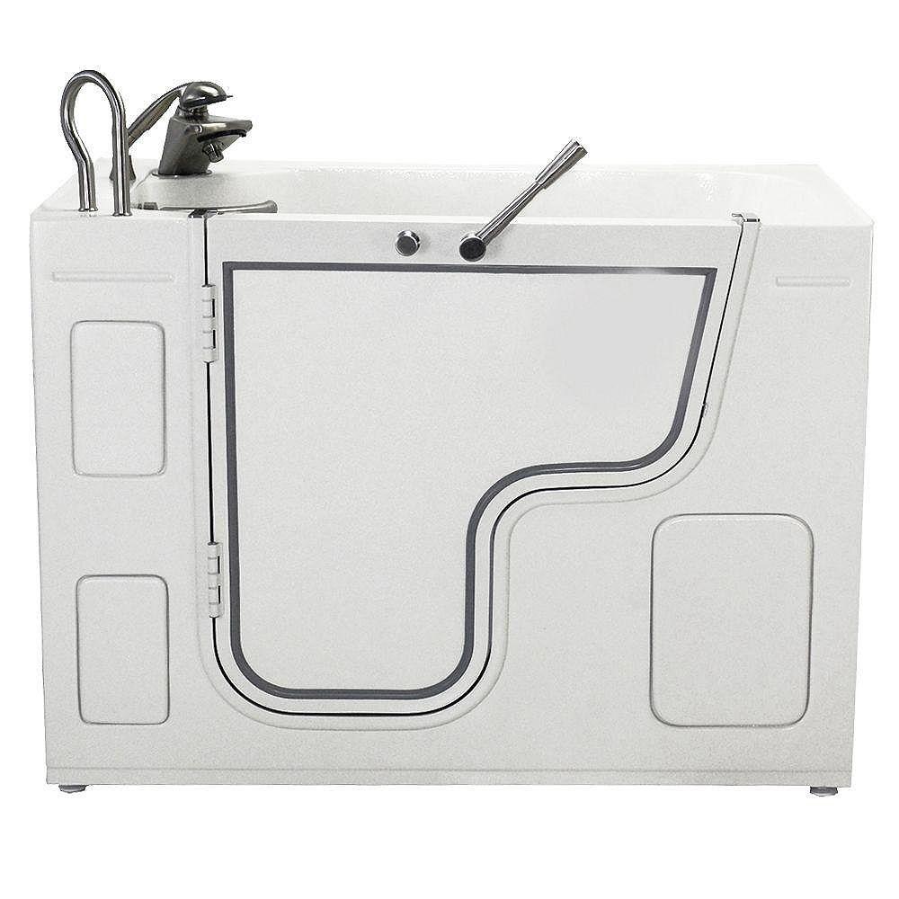 Ella 4 Feet 3 1/4-Inch Walk-In Whirlpool Transfer Bathtub in White