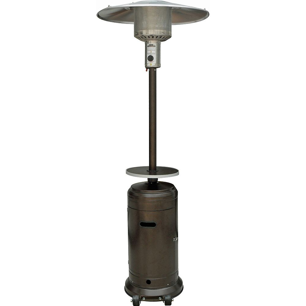 Hiland Brand Patio Heaters Chauffe-terrasse avec table - Fini bronze martelé