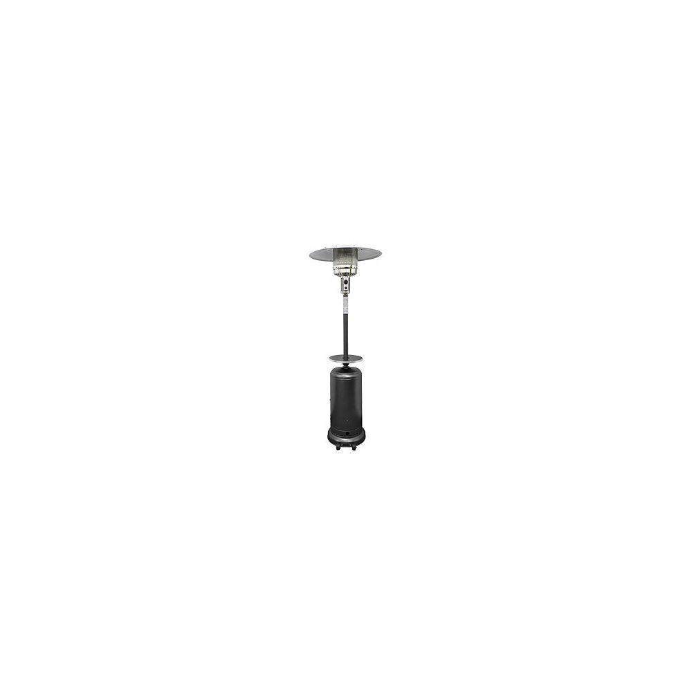 Hiland 87-inch Tall Outdoor Patio Heater With Table in Hammered Silver