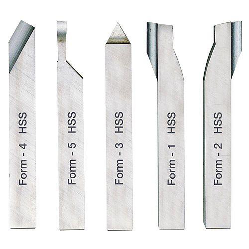 5-Piece Cutting Tool Set ( 8 x 8 x 80mm)