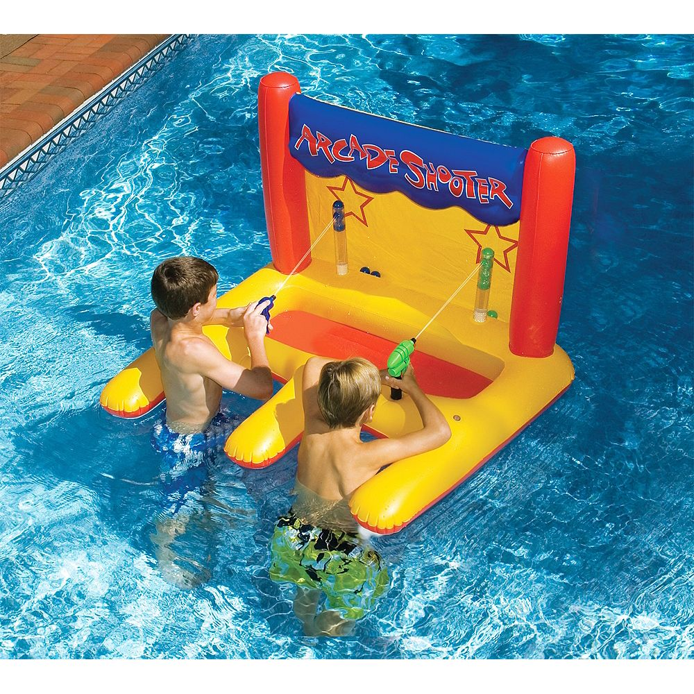 Swimline Dual Arcade Shooter Inflatable Pool Toy The Home Depot Canada