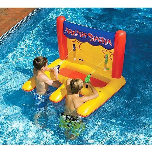 Jeu de tir gonflable pour piscine
