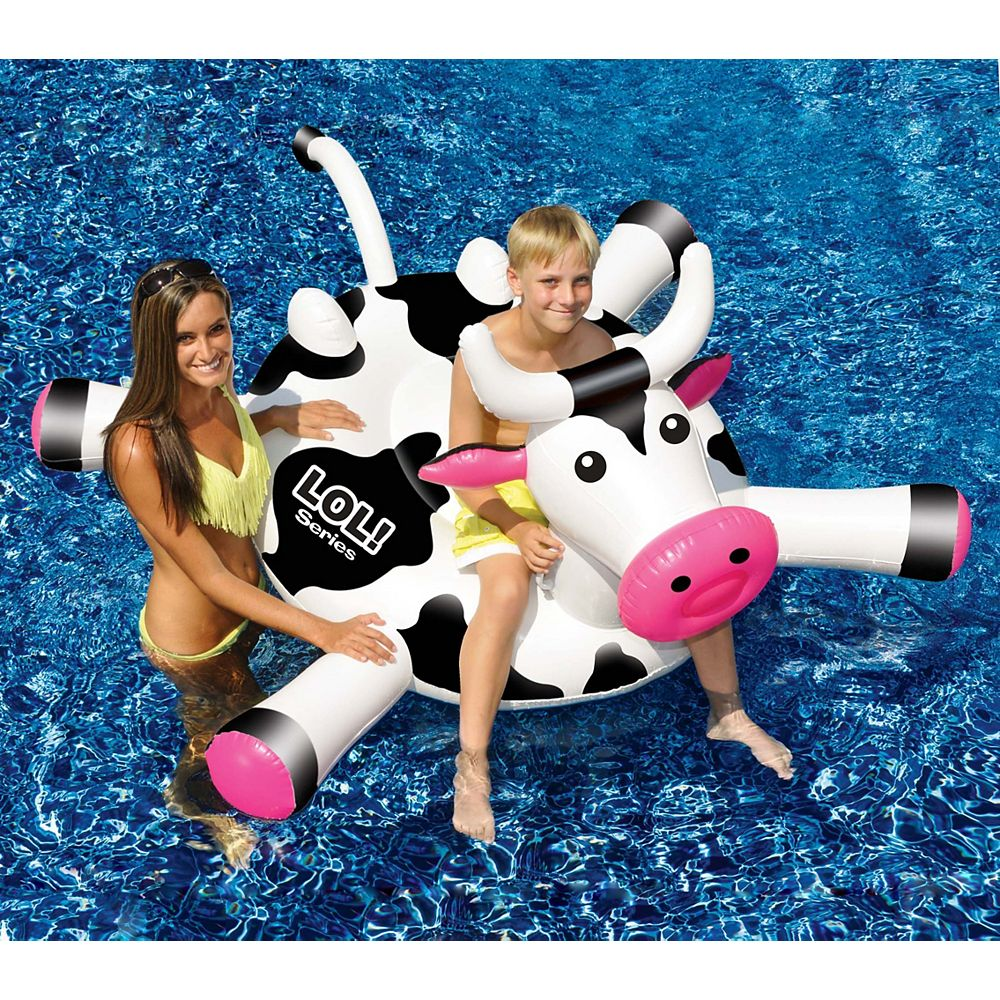 Swimline LOL 54-inch Cow inflatable Ride-On Pool Toy