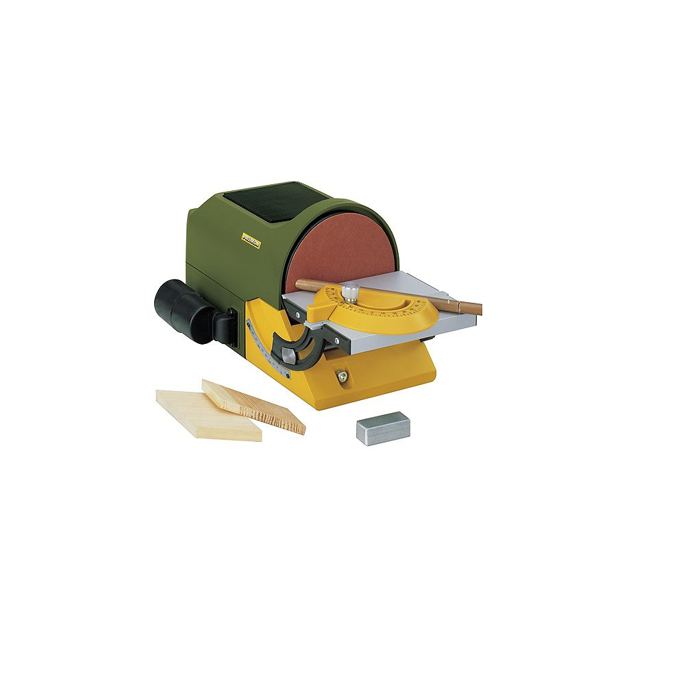 PROXXON Disc Sander TG 125/E with Dust Port and Adaptor