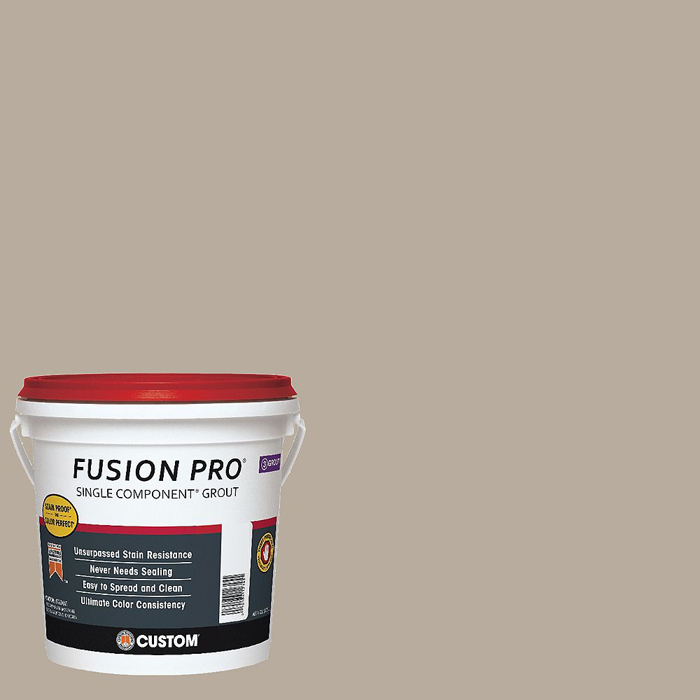 Custom Building Products #386 Oyster Gray Fusion Pro 1gal