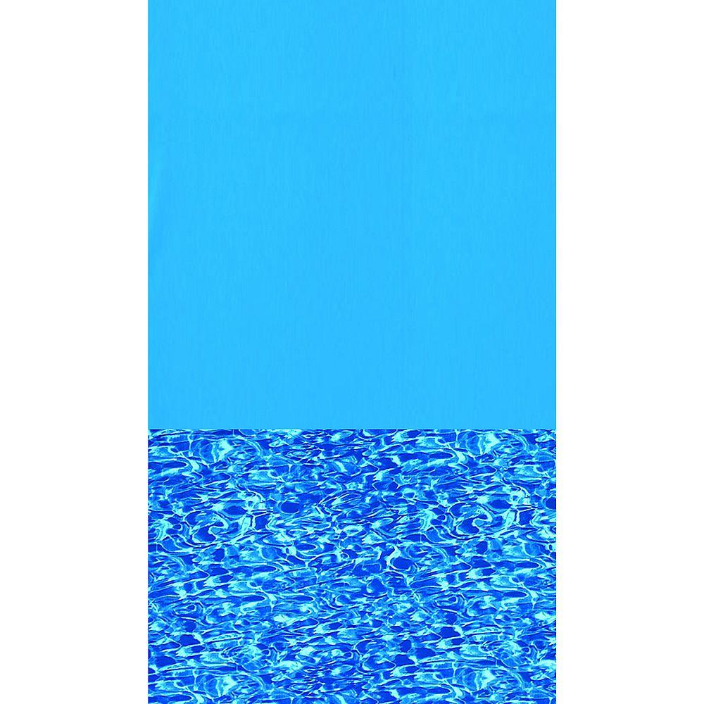 Swimline Toile à chevauchement Swirl Bottom pour piscine, 3,6 m x 5,1 m (12 pi x 17 pi), ovale, 122/132 cm (48/52 po) de haut