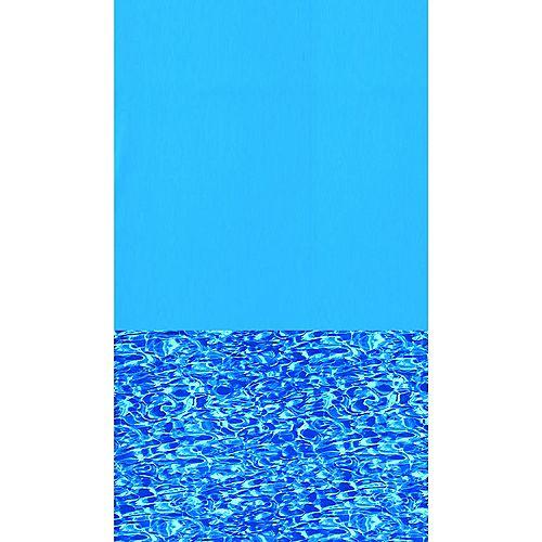 Toile à chevauchement Swirl Bottom pour piscine, 5,5 m (18 pi), ronde, 122/132 cm (48/52 po) de haut