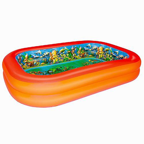 3D Interactive Adventure Rectangular Inflatable Pool