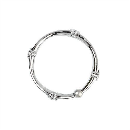 NeverRust Decorative Shower Rings in Chrome
